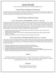 sample resume for finance executive attractive finance program management  professional success manager resume sample resume finance