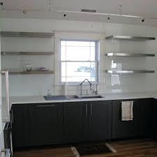 floating stainless steel shelves kitchen stainless steel floating shelf system