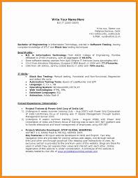 Sample Resume For Experienced Software Tester Sample Resume For Software Test Engineer With Experience 29