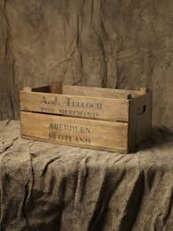 reclaimed wooden crate