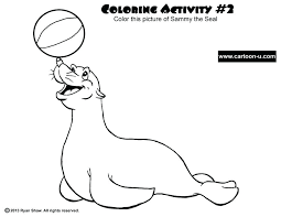 Coloring Pages Seal Coloring Pages To Print Baby Free Library With