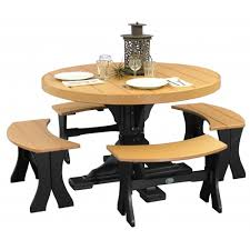 accessories luxcraft 4ft poly round dining table