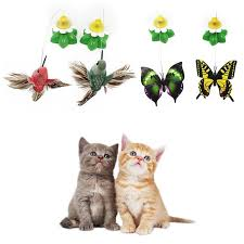 pet toy electric rotating cat toys flower erfly birds steel wire dog teaser