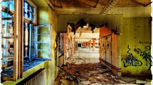 decayed hallway abandoned post office urban decay photography building full hd 1080p background