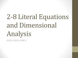 2 8 literal equations and dimensional ysis
