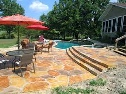 Brilliant Ideas Pressed Concrete Patio Pleasurable Stamped Patios