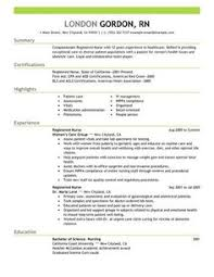 Graduate Nurse Resume Example | Rn | Pinterest | Resume Examples ...