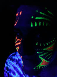 awesome glow in the dark neon face painting design