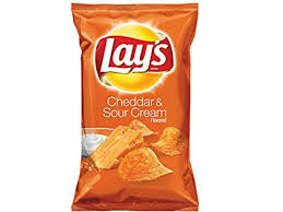 cheddar and sour cream potato chips