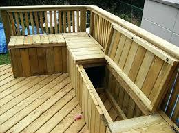 porch storage bench building a wooden deck over a concrete one deck storage wooden patio storage