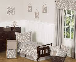 giraffe neutral toddler bedding 5 pc set by sweet jojo designs only 99 99