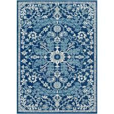 kassandra navy teal 2 ft x 3 ft oriental area rug
