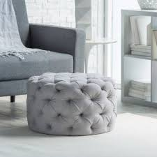 round fabric ottoman. Wonderful Ottoman Belham Living Allover Round Tufted Ottoman  Grey For Fabric