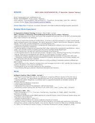 Testing Specialist Sample Resume Mitocadorcoreano Com