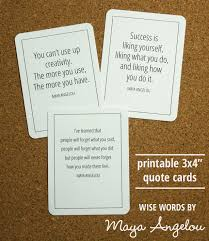 Quote Cards Delectable Wise Words By Maya Angelou Rachel Swartley