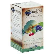 garden of life mykind organics calcium plant organic vegan tablets