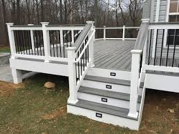 outdoor deck railings ideas. i notice on here an extra railing the left side of steps. that would be great for at least stairs kitchen deck so my outdoor railings ideas m