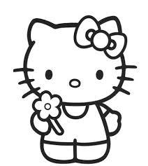 Hello Kitty Con Il Fiore Disegni Da Colorare Gratis Disegni Da