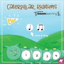 Quarter Cards Caterpillar Rhythms Quarter Note 8th Notes Boom Cards