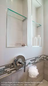 bathroom tempered glass shelf: tempered glass shelf schluter tile edging chrome shower hooks