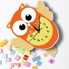 baby owl wall clock wall clocks