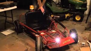 Go Kart Lights Homemade Go Kart Lights Youtube