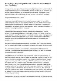 Psychology Personal Statement Example Writing Personal Statements For Grad School Psychology School