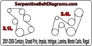 2001 2005 century grand prix impala intrigue lumina monte 3 1l and 3 4l diagrams