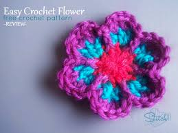 Free Crochet Flower Patterns Delectable Easy Crochet Flower Free Crochet Pattern Review Stitch48