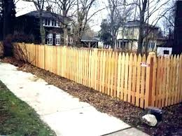 en grdening cedr installing wood fence posts how to put in wy stll