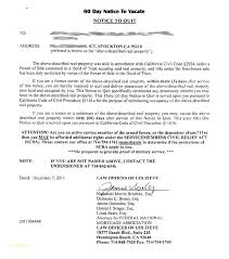 day notice form elegant printable sle tenant to vacate 30 free landlord letter