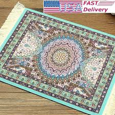 oriental rug mouse pad details about mini woven blue style carpet with fringe persian australia