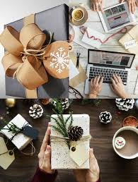 a collage with three photos of gifts for