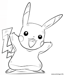 Coloriage Pikachu Pokemon Dessin