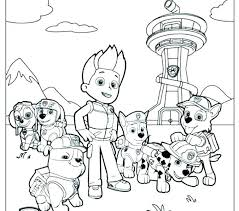Paw Patrol Coloring Sheets Chase Paw Patrol Coloring Pages Paw