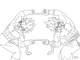 Small Picture Super Saiyan Fusion coloring page Free Printable Coloring Pages