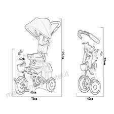 Nbgy Triciclo Triciclo Multifunzione Anteriore Pieghevole