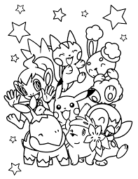 Small Picture Beautiful Pokemon Coloring Pages Printable 13 With Additional