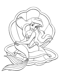 Small Picture Disney Princess Mermaid Coloring Page Disney Princess Coloring