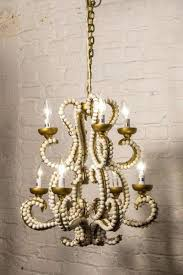 calder wooden chandelier vagabond vintage iron chandelier with whitewashed wood beads small ab home calder wooden chandelier