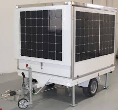 mobile kitchen trailer with battery and solar cells for a ecosustainable energy consumption f