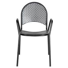 outdoor metal chair. Mesh Patio Chairs With Metal Chair Material And Black Color Outdoor S