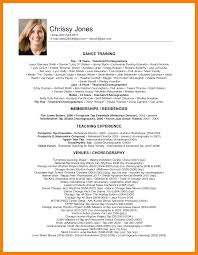 How To Make A Dance Resume 9 Dance Resume For Audition Self Introduce