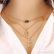 whole the cross necklace three layers necklaces for girls for evening dresses for women indian style prom dresses girlfriends birthday