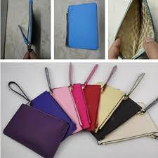 2019 mini ks pu leather wallet wristlet with lanyard zipper purse clutch bag coin cash pouches credit card money makeup bags handbag coin purse from