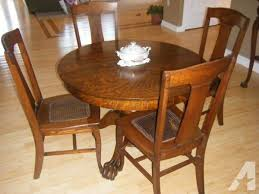 oak dining room chairs throughout antique oak tiger wood dining room set in forked river plan 12