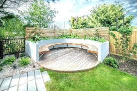 deck patio backyard circle circular outdoor seating furniture wedding
