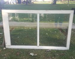 Vintage Old Wood Window Frame Two 2 Pane French Country