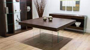 home decorative large square dining table seats 8 24 aria espresso dark wood and glass large