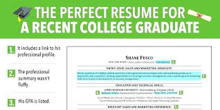 College Graduate Resume Delectable Recent College Graduate Resume Template Student Word For Applying
